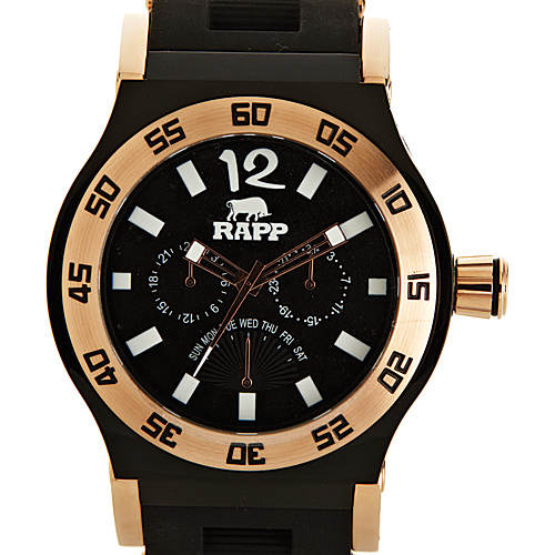 RAPP Watches Pink Naples Multi-Function Watch Rose Gold Black - RAPP Watches Watches