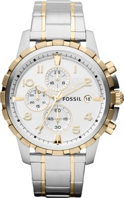 Fossil Dean Two Tone-Silver/Gold - Fossil Watches