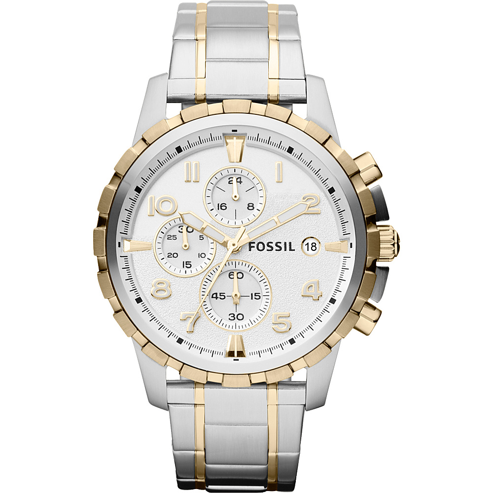 Fossil Dean Two Tone-Silver/Gold - Fossil Watches - Fashion Accessories, Watches