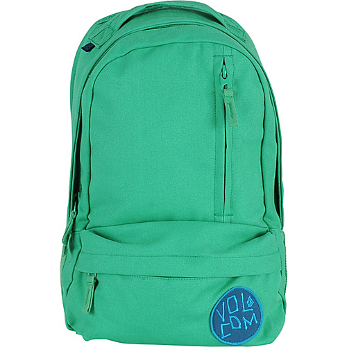 Volcom Basis Slouch Backpack Green - Volcom School & Day Hiking Backpacks