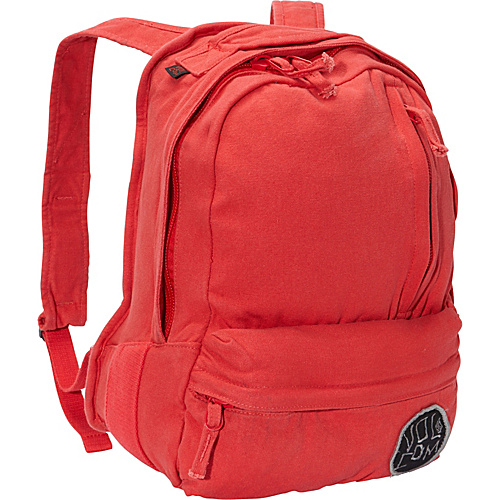 Volcom Basis Slouch Backpack Red - Volcom School & Day Hiking Backpacks
