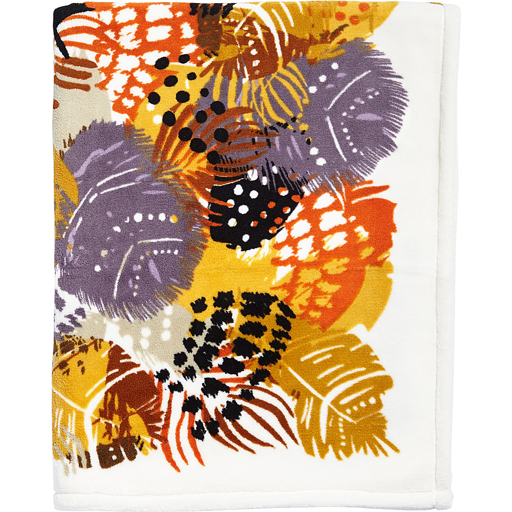 Vera Bradley Throw Blanket Painted Feathers - Vera Bradley Travel Comfort and Health
