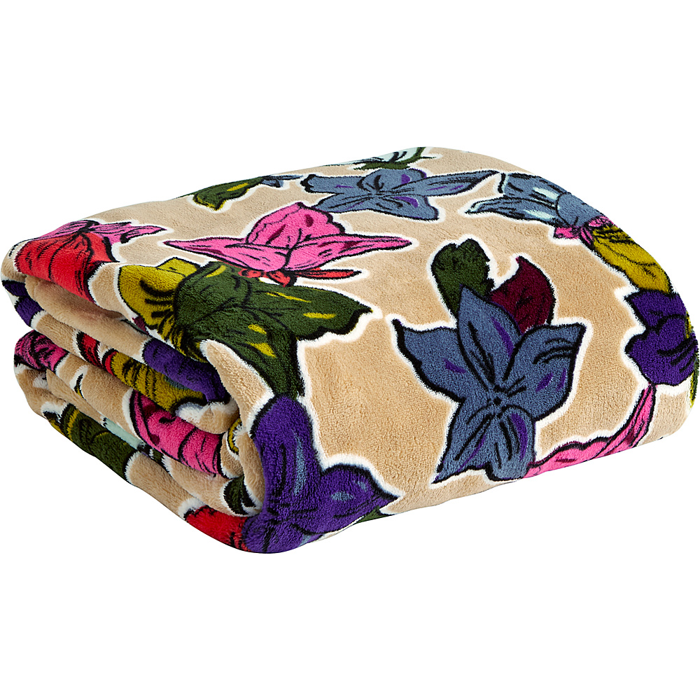 Vera Bradley Throw Blanket Falling Flowers Neutral - Vera Bradley Travel Pillows & Blankets - Travel Accessories, Travel Pillows & Blankets