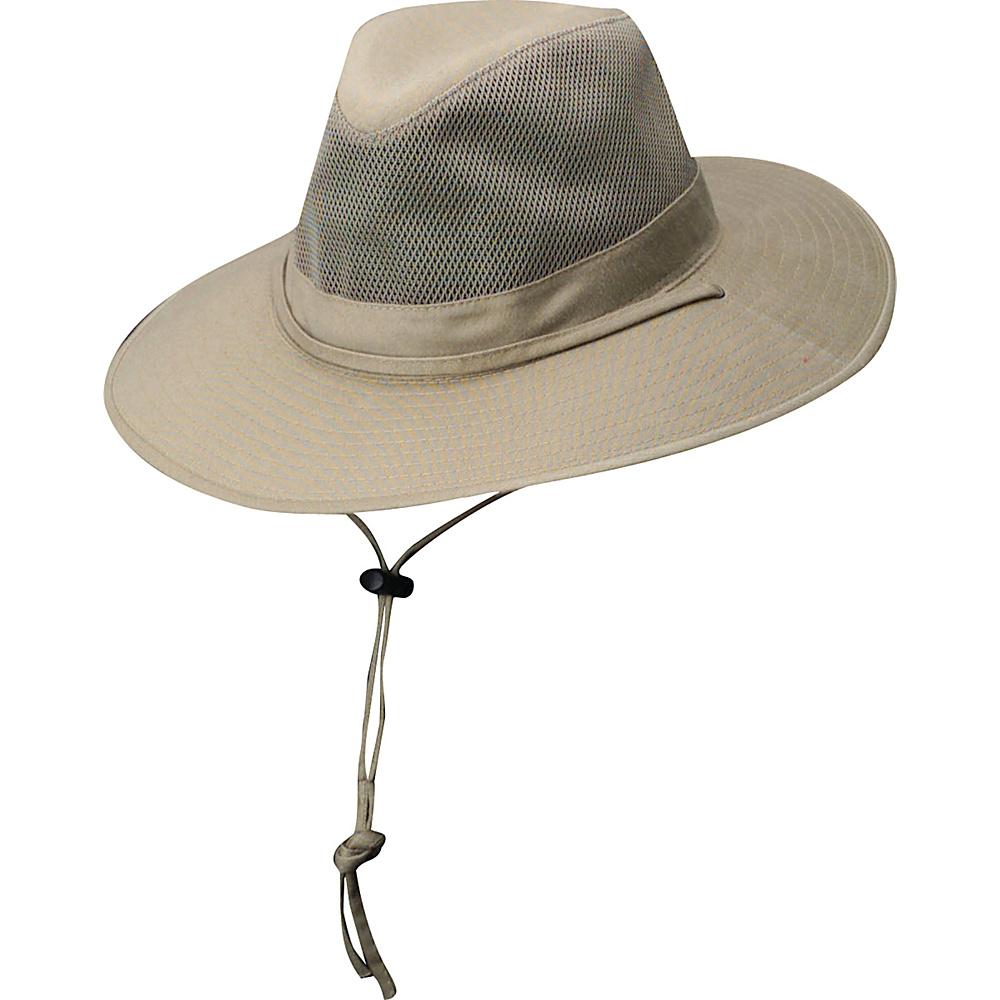 Dorfman Pacific Dorfman Mens Safari Spf4 Hat Medium Camel