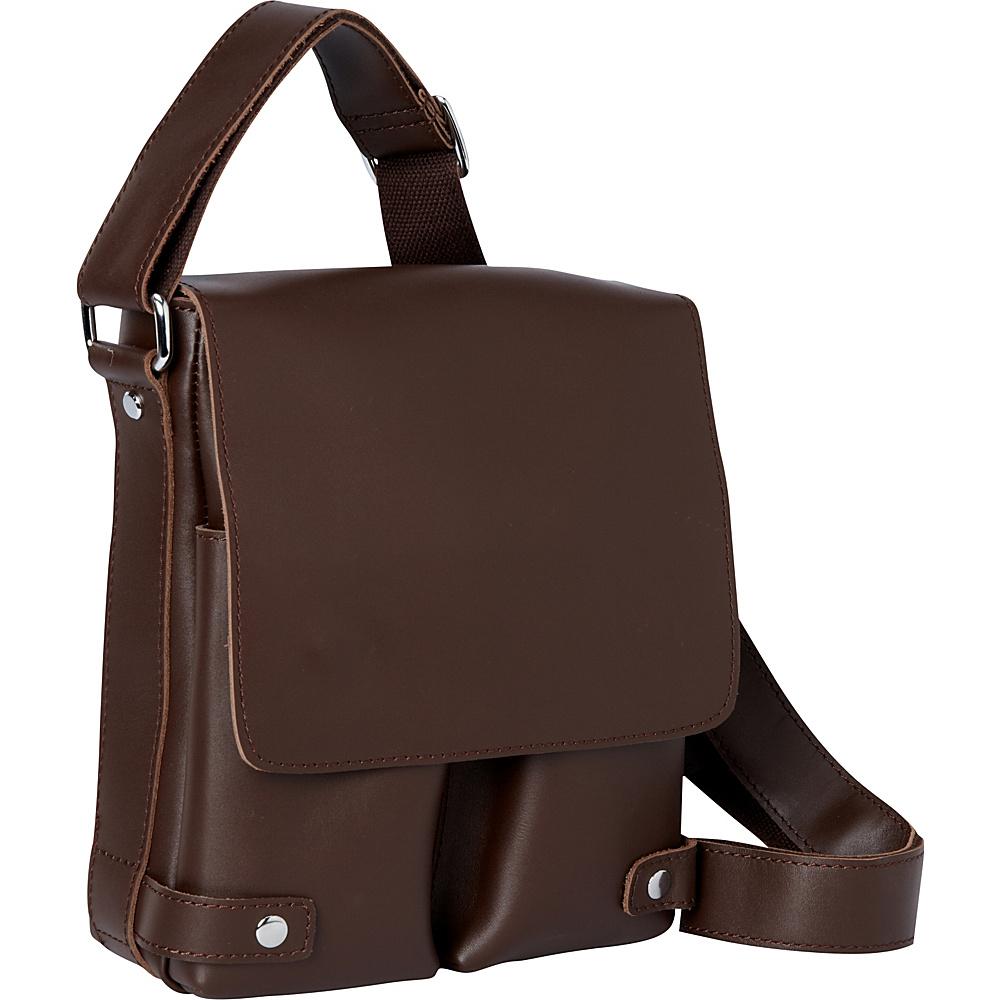 Vagabond Traveler 10.5 Leather Shoulder Bag Coffee Brown - Vagabond Traveler Other Mens Bags - Work Bags & Briefcases, Other Men's Bags