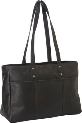 Le Donne Leather Traveler Tote Black - Le Donne Leather Leather Handbags 10266415