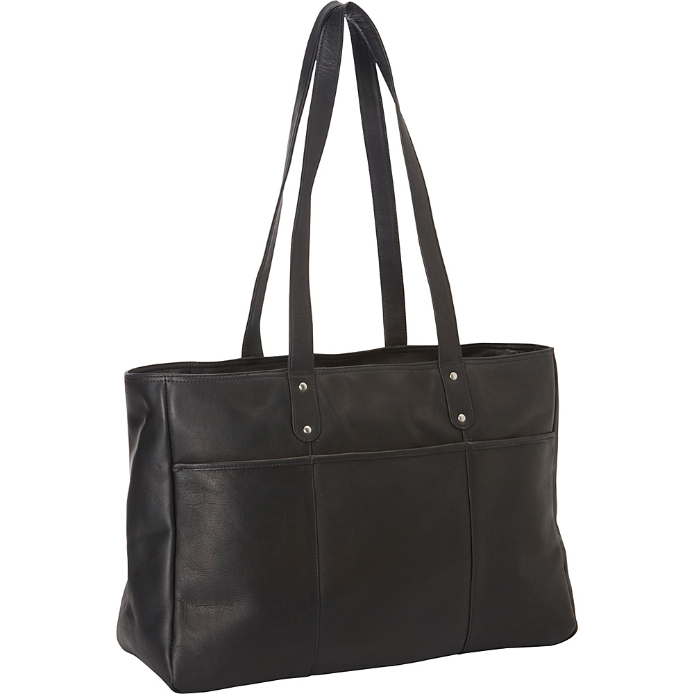 Le Donne Leather Traveler Tote Black - Le Donne Leather Leather Handbags - Handbags, Leather Handbags
