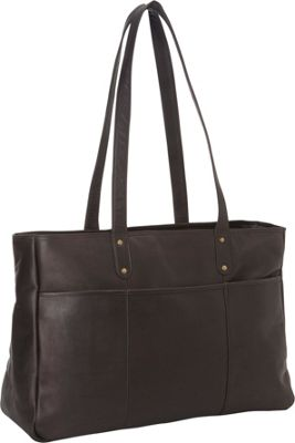Le Donne Leather Traveler Tote Cafe - Le Donne Leather Leather Handbags