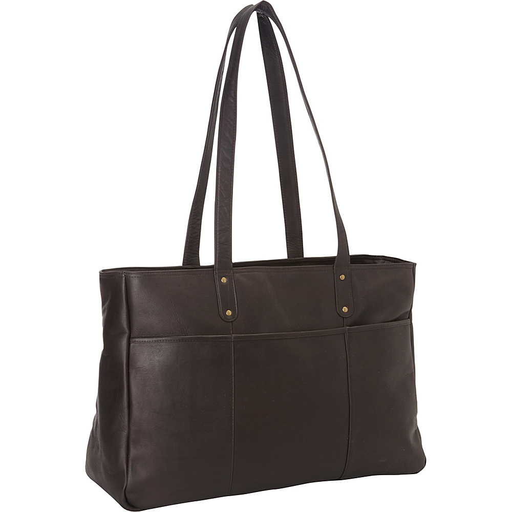 Le Donne Leather Traveler Tote Cafe - Le Donne Leather Leather Handbags - Handbags, Leather Handbags