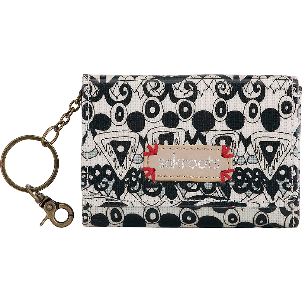 Sakroots Artist Circle Flap ID Keychain Black & White One World - 10 - Sakroots Womens SLG Other - Women's SLG, Women's SLG Other