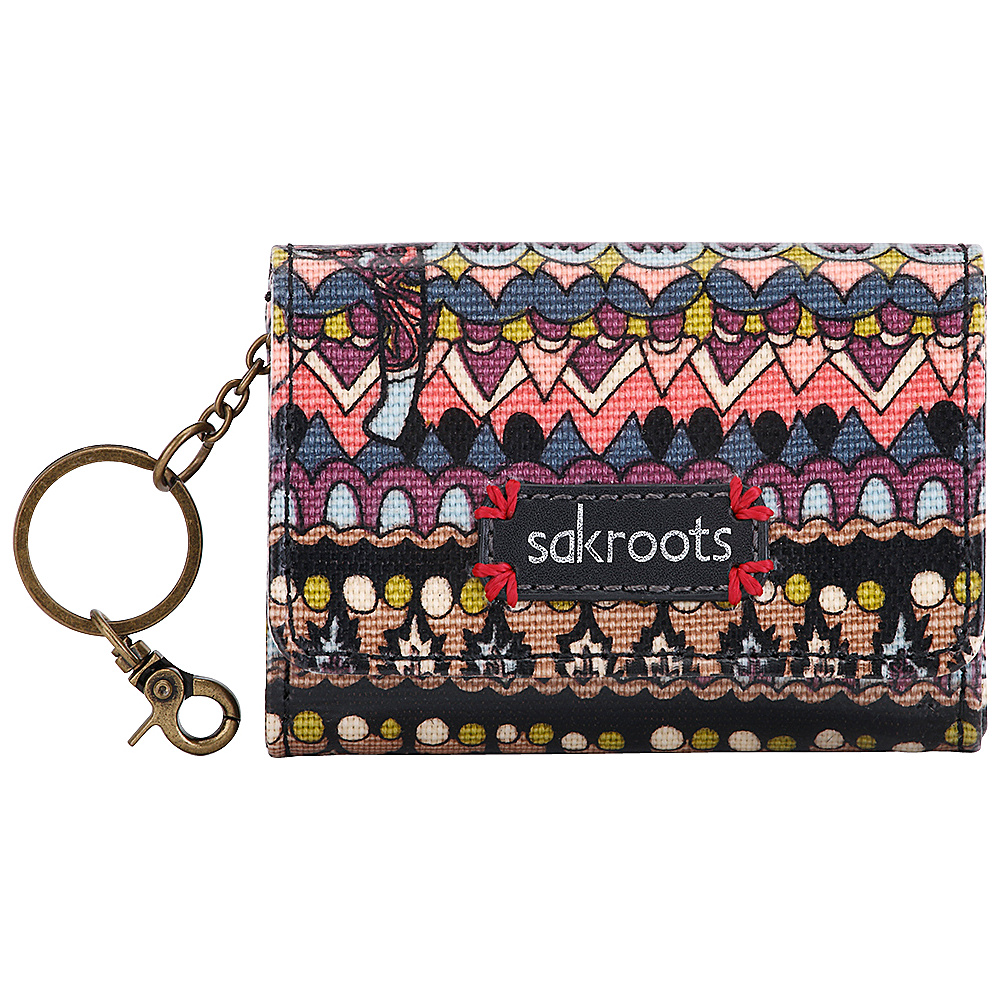 Sakroots Artist Circle Flap ID Keychain Taupe One World - Sakroots Womens SLG Other - Women's SLG, Women's SLG Other