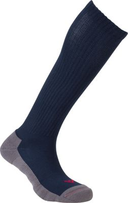 Image of Active Energy Travel Comfort All Season OTC Socks Navy - Active Energy Travel Comfort and Health