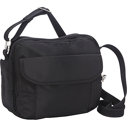 Travelon Anti-Theft Classic East/West Messenger Black - Travelon Messenger Bags