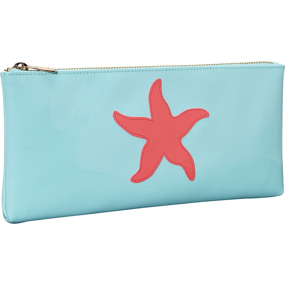 pb travel Manning Clutch Light Blue Watermelon Starfish pb travel Women s Wallets