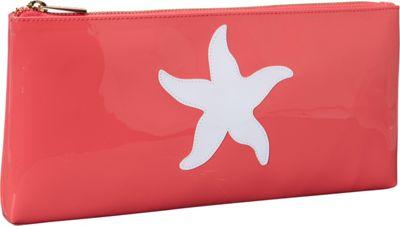 pb travel Manning Clutch Watermelon -White Starfish - pb travel Women's Wallets