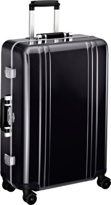 Zero Halliburton Classic Polycarbonate 26 inch 4 Wheel Spinner Travel Case Black - Zero Halliburton Hardside Checked