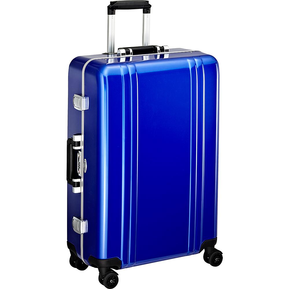 Zero Halliburton Classic Polycarbonate 26 4 Wheel Spinner Travel Case Blue Zero Halliburton Hardside Checked