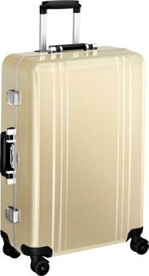 Zero Halliburton Classic Polycarbonate 26 inch 4 Wheel Spinner Travel Case Polished Gold