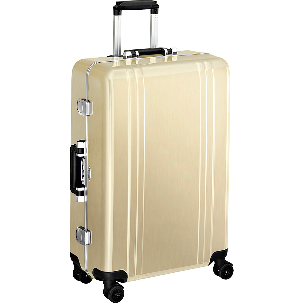Zero Halliburton Classic Polycarbonate 26 4 Wheel Spinner Travel Case Polished Gold PG Zero Halliburton Hardside Checked