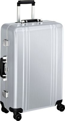 Zero Halliburton Classic Polycarbonate 26 inch 4 Wheel Spinner Travel Case Silver - Zero Halliburton Hardside Checked