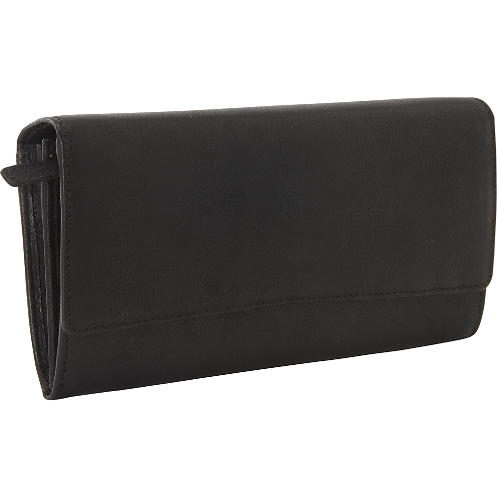Derek Alexander Large Multi Compartment Clutch Black - Derek Alexander Ladies Clutch Wallets
