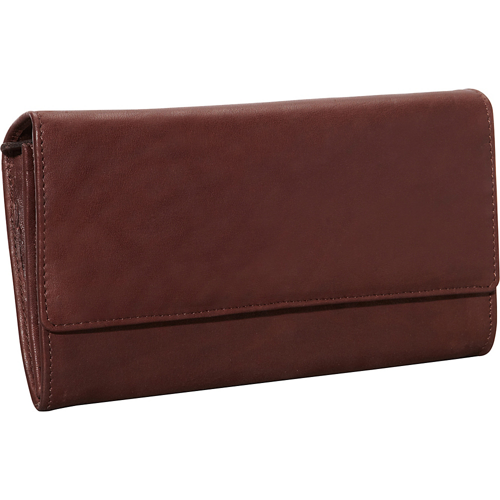 Derek Alexander Large Multi Compartment Clutch Brown - Derek Alexander Ladies Clutch Wallets