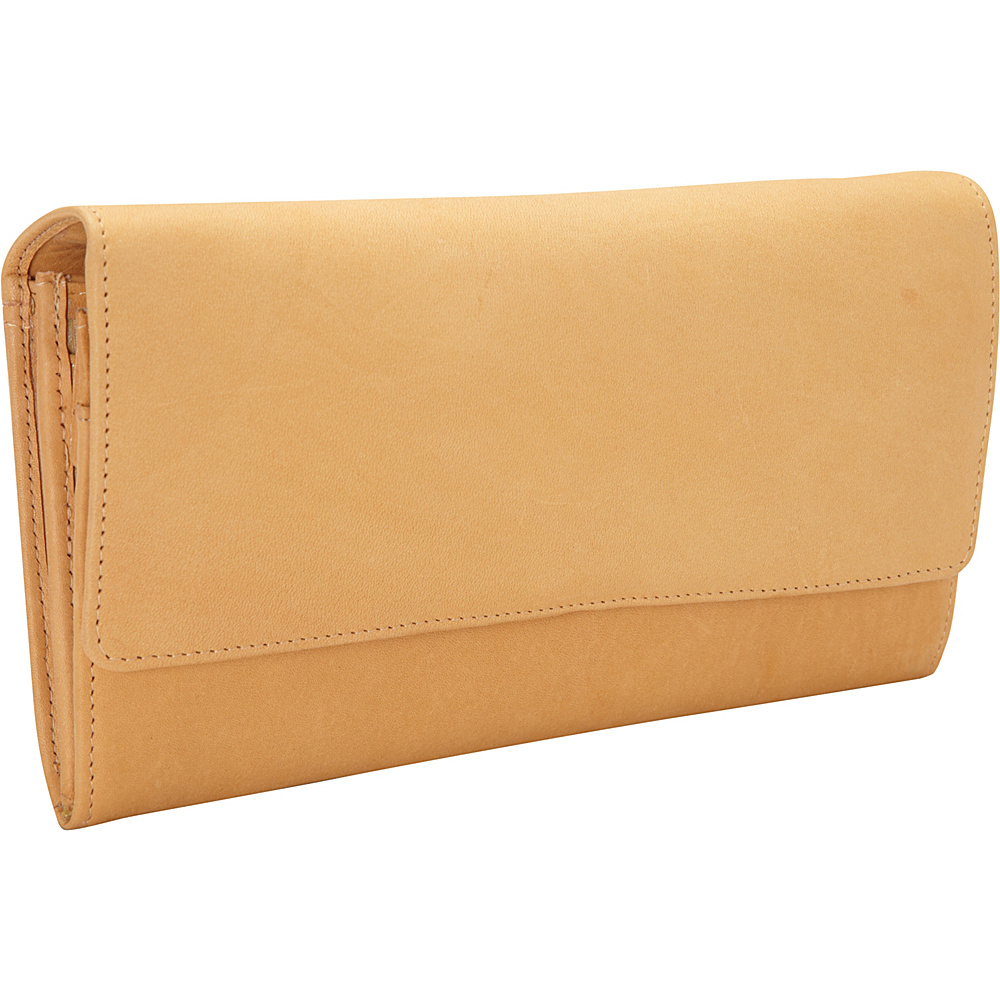 Derek Alexander Large Multi Compartment Clutch Tan - Derek Alexander Ladies Clutch Wallets