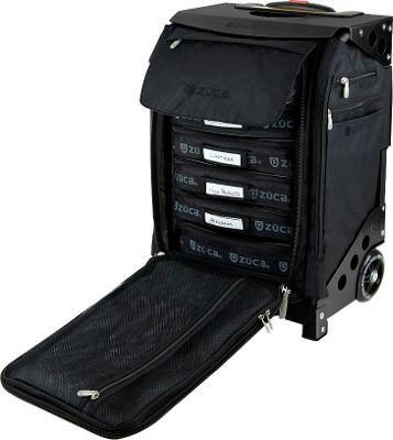 ZUCA Flyer Artist Black/Black Frame Black - Black Frame - ZUCA Softside Carry-On