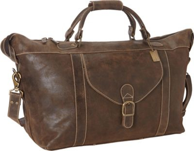ClaireChase Laramie 25 inch Duffel Distressed Brown - ClaireChase Travel Duffels