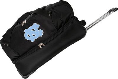 Denco Sports Luggage NCAA University of North Carolina Tar Heels 27 inch Drop Bottom Wheeled Duffel Bag Black - Denco Sports Luggage Travel Duffels