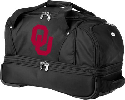 Denco Sports Luggage NCAA University of Oklahoma Sooners 22 inch Drop Bottom Wheeled Duffel Bag Black - Denco Sports Luggage Travel Duffels