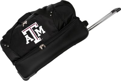 "Denco Sports Luggage NCAA Texas A&M University Aggies 27"""" Drop Bottom Wheeled Duffel Bag Black - Denco Sports Luggage Travel Duffels"