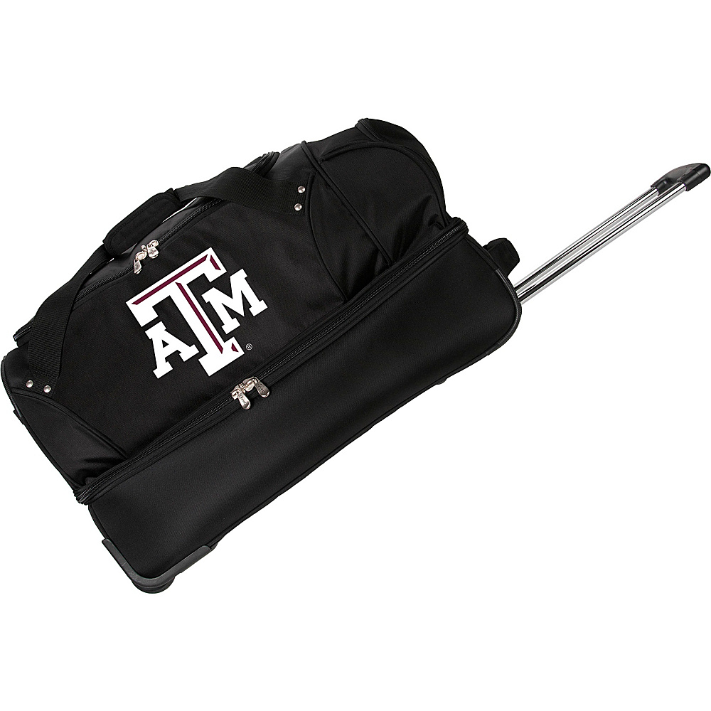 Denco Sports Luggage NCAA Texas A&M University Aggies 27 Drop Bottom Wheeled Duffel Bag Black - Denco Sports Luggage Travel Duffels - Luggage, Travel Duffels
