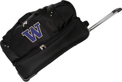 Denco Sports Luggage NCAA University of Washington Huskies 27 inch Drop Bottom Wheeled Duffel Bag Black - Denco Sports Luggage Travel Duffels