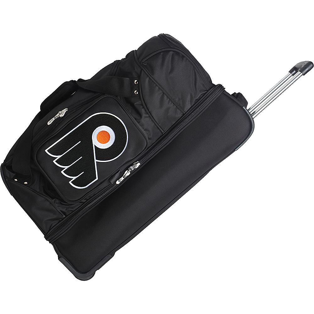 """Denco Sports Luggage NHL 27"""" Drop Bottom Wheeled Duffel Bag Philadelphia Flyers - Denco Sports Luggage Rolling Duffels"""