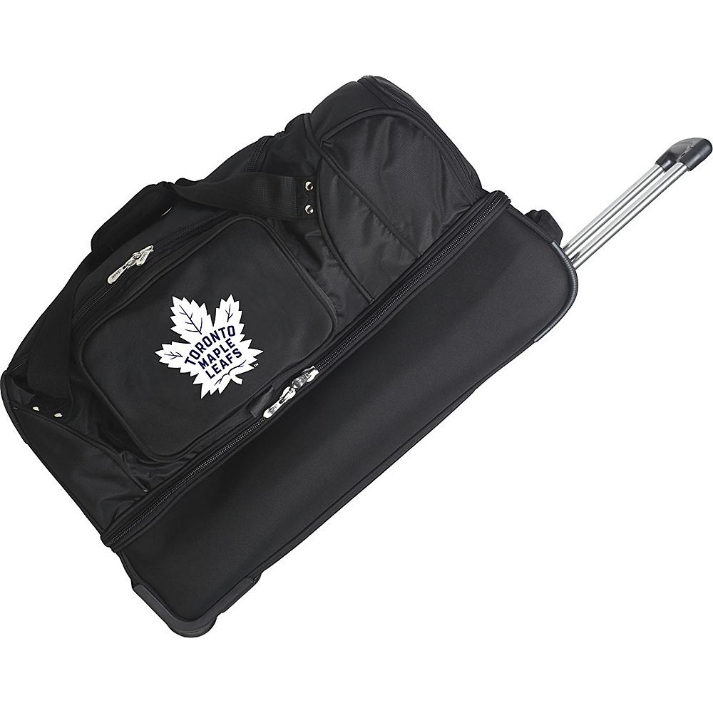 Denco Sports Luggage NHL 27 Drop Bottom Wheeled Duffel Bag Toronto Maple Leafs - Denco Sports Luggage Travel Duffels - Duffels, Travel Duffels