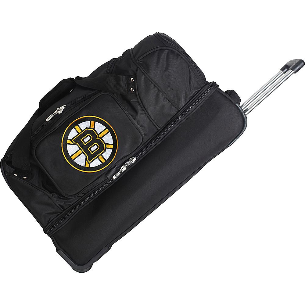 Denco Sports Luggage NHL 27 Drop Bottom Wheeled Duffel Bag Boston Bruins - Denco Sports Luggage Travel Duffels - Duffels, Travel Duffels