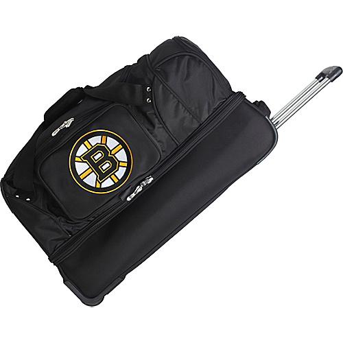 """Denco Sports Luggage NHL 27"""" Drop Bottom Wheeled Duffel Bag Boston Bruins - Denco Sports Luggage Travel Duffels"""