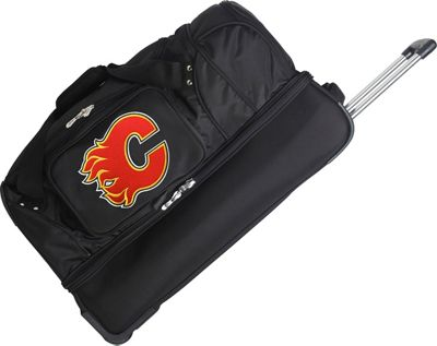 Denco Sports Luggage NHL 27 inch Drop Bottom Wheeled Duffel Bag Calgary Flames - Denco Sports Luggage Travel Duffels