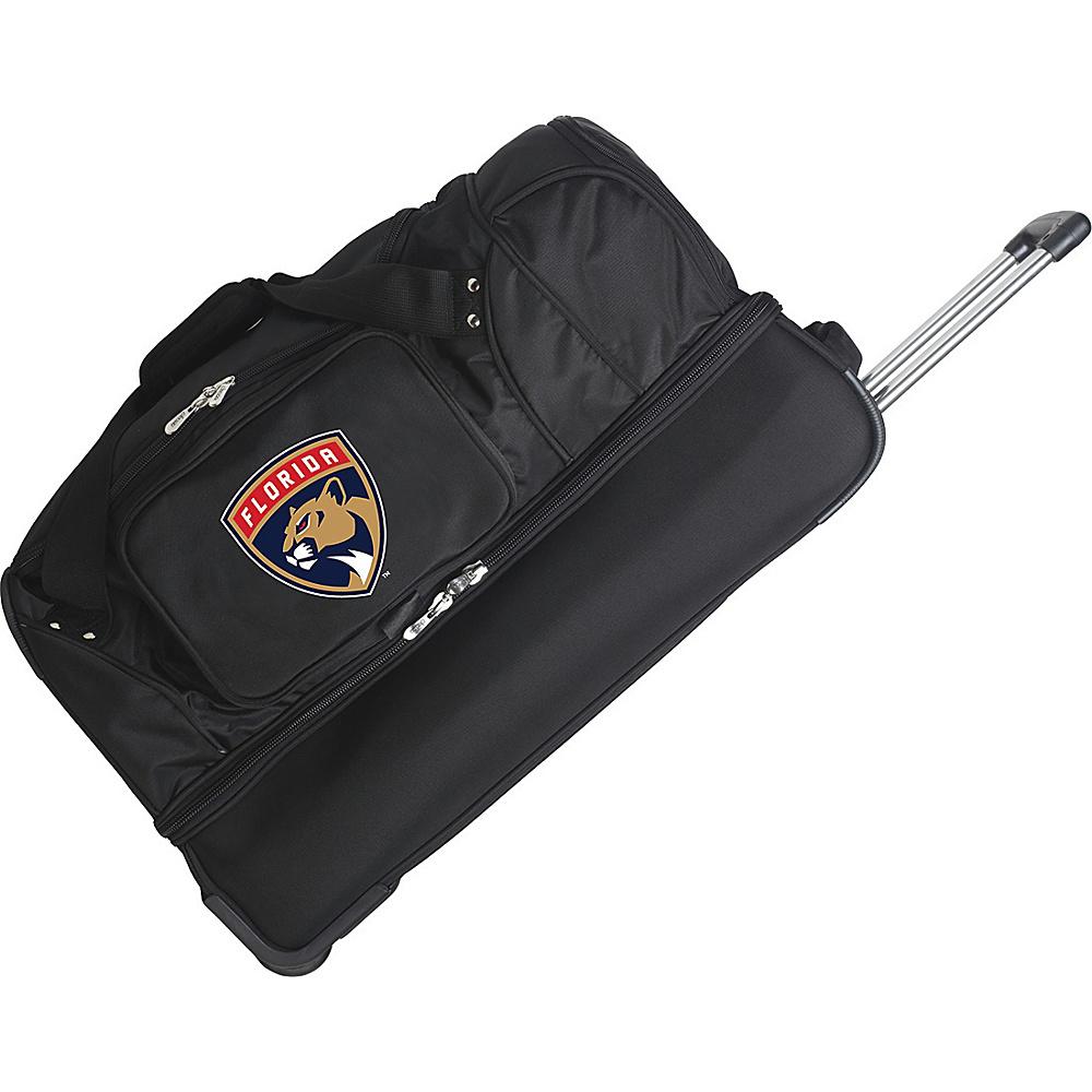 Denco Sports Luggage NHL 27 Drop Bottom Wheeled Duffel Bag Florida Panthers - Denco Sports Luggage Travel Duffels - Duffels, Travel Duffels