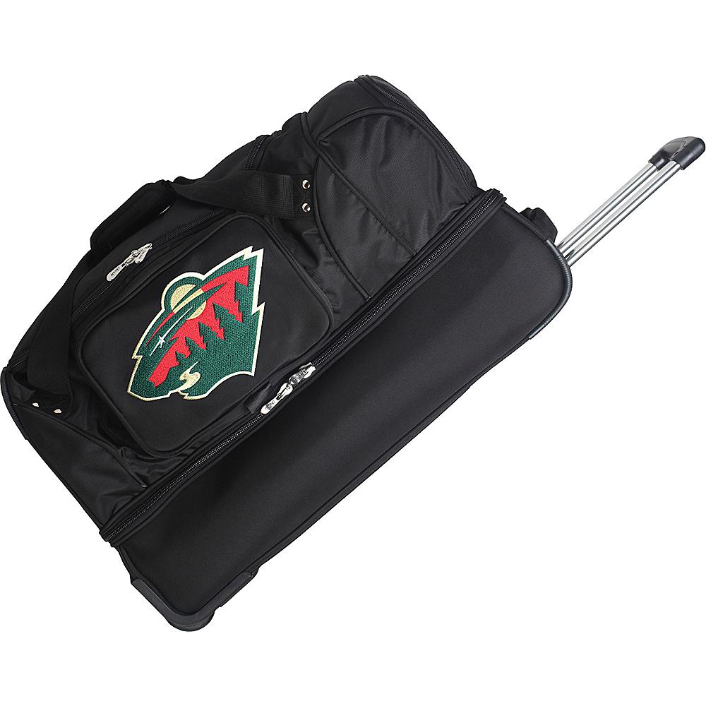 Denco Sports Luggage NHL 27 Drop Bottom Wheeled Duffel Bag Minnesota Wild - Denco Sports Luggage Travel Duffels - Duffels, Travel Duffels