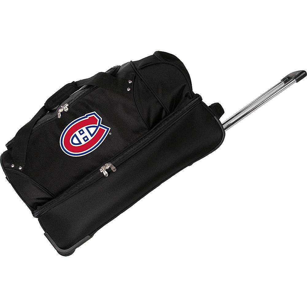 Denco Sports Luggage NHL 27 Drop Bottom Wheeled Duffel Bag Montreal Canadians - Denco Sports Luggage Travel Duffels - Duffels, Travel Duffels