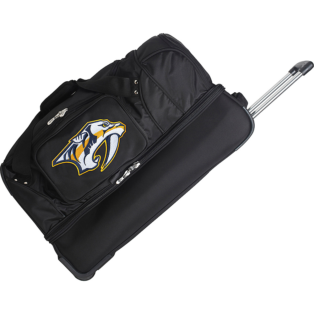 Denco Sports Luggage NHL 27 Drop Bottom Wheeled Duffel Bag Nashville Predators - Denco Sports Luggage Travel Duffels - Duffels, Travel Duffels
