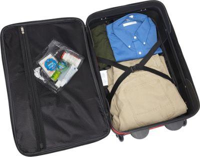 American Tourister Fieldbrook II 3-Piece Nested Luggage Set Red/Black - American Tourister Luggage Sets