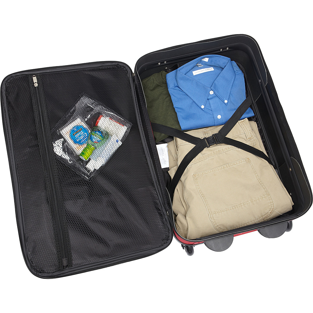 American Tourister Fieldbrook II 3-Piece Nested Luggage Set Black - American Tourister Luggage Sets