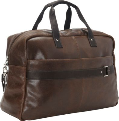 Piel Vintage Leather Urban Duffel Vintage Brown - Piel Travel Duffels