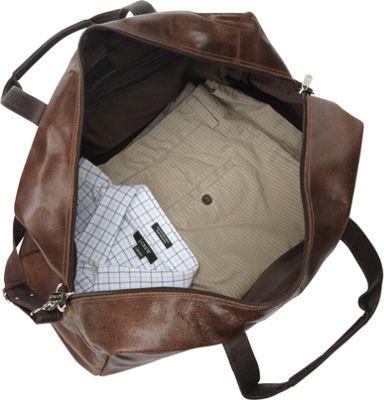 Piel Vintage Leather Urban Duffel Vintage Brown - Piel Travel Duffels