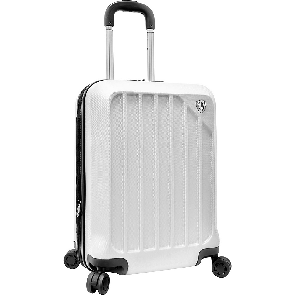 Traveler s Choice Glacier 21 Hardshell Expandable Carry On Spinner Upright White Traveler s Choice Hardside Carry On