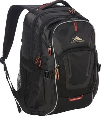 High Sierra AT7 Computer Backpack Black - High Sierra Business & Laptop Backpacks