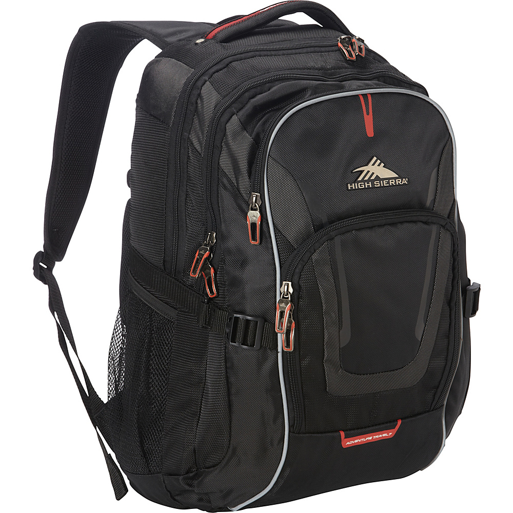 High Sierra AT7 Computer Backpack Black - High Sierra Business & Laptop Backpacks